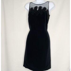 Cache black beaded cocktail dress 6 vintage